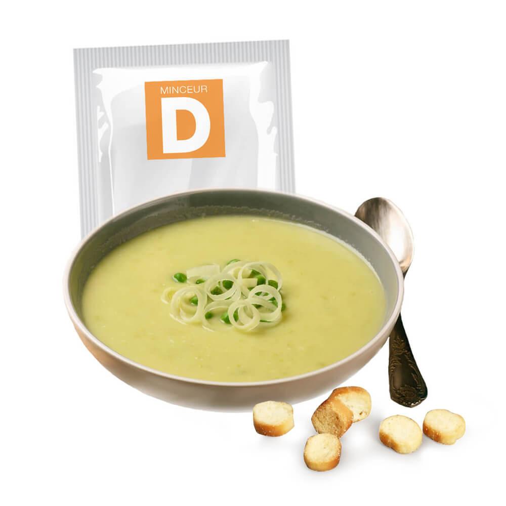 Zuppa proteica di verdure verde con crostini 7 bustine MinceurD