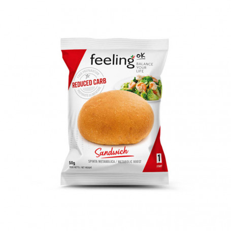 Sandwich naturale- panino proteico all'unità Start1 FeelingOk