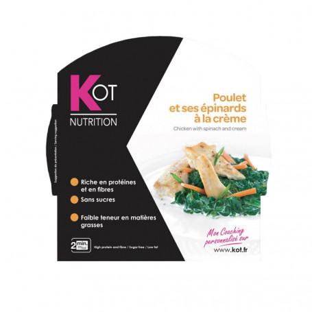 Piatto proteico Pollo agli spinaci alla panna KOT