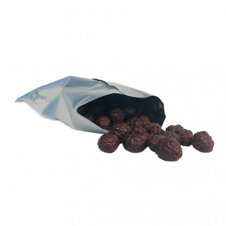 Palline di latte croccanti ricoperte di cioccolato nerro - 4 bustine MinceurD