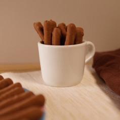 Biscotti proteici Mini-stick nocciola ricoperta di cioccolato - 4 bustine MinceurD