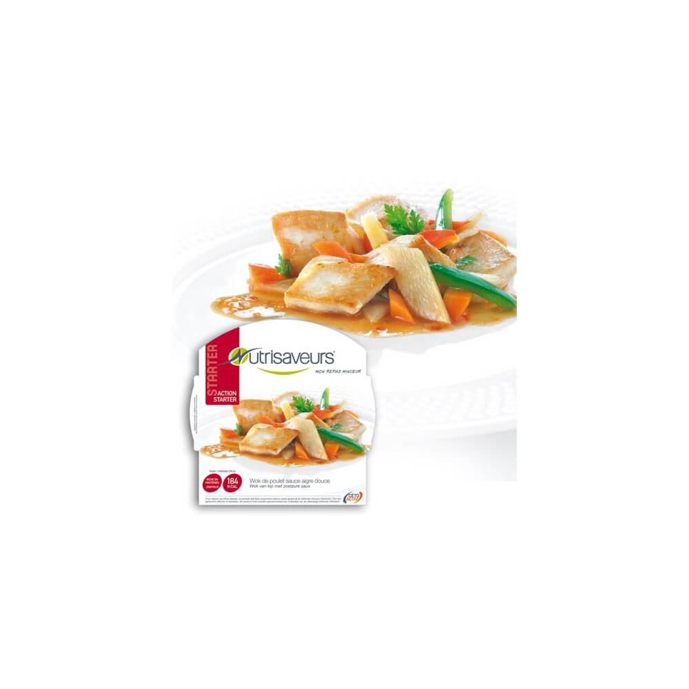 Piatto Proteico Wok di pollo in salsa agrodolce Nutrisaveurs