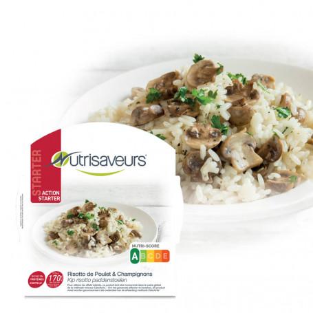 Piatto proteico Starter Risotto di konjac al pollo e funghi Nutrisaveurs