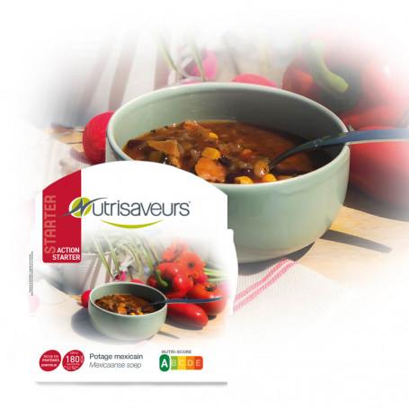 Piatto proteico Starter Zuppa messicana con pollo e riso Konjac Nutrisaveurs