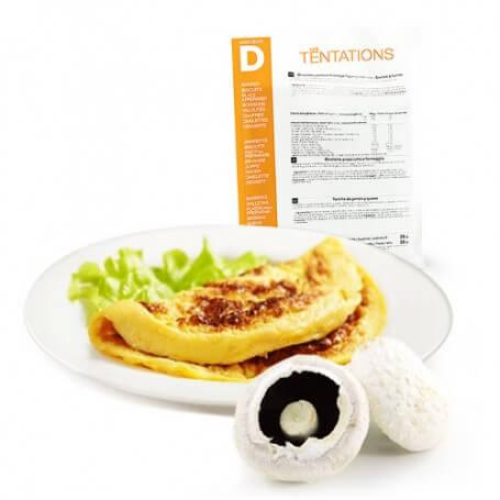 Omelette ai funghi iperproteica