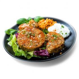 Hamburger di Lenticchie con Verdure