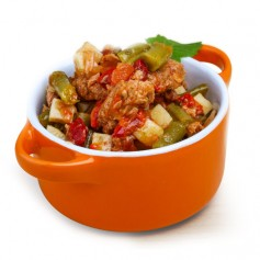 Tonno al sugo di pomodoro e verdure