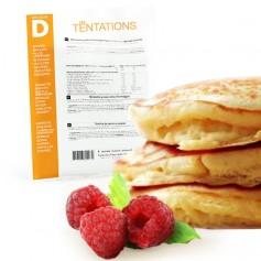 Pancake e gelatina di lamponi iperproteico
