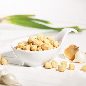 Palline di soia alla panna e cipolle