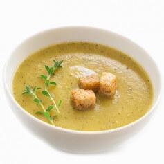 Zuppa vellutata di cipolle gratinate