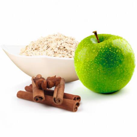 Fiocchi d'avena alla mela e alla cannella