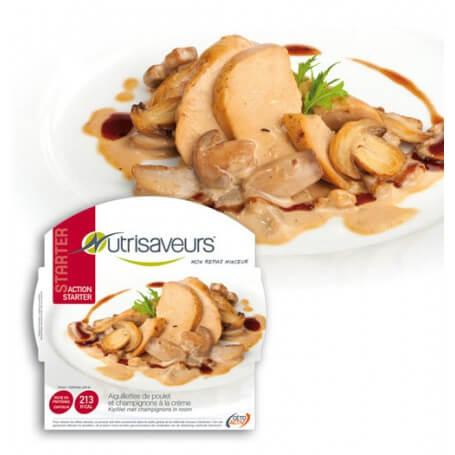 Filetti di pollo e funghi alla crema