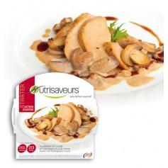 Piatto proteico Filetti di pollo e funghi alla crema Nutrisaveurs