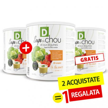 Soupe au chou et aux légumes 2 Achetées +1 Gratuite